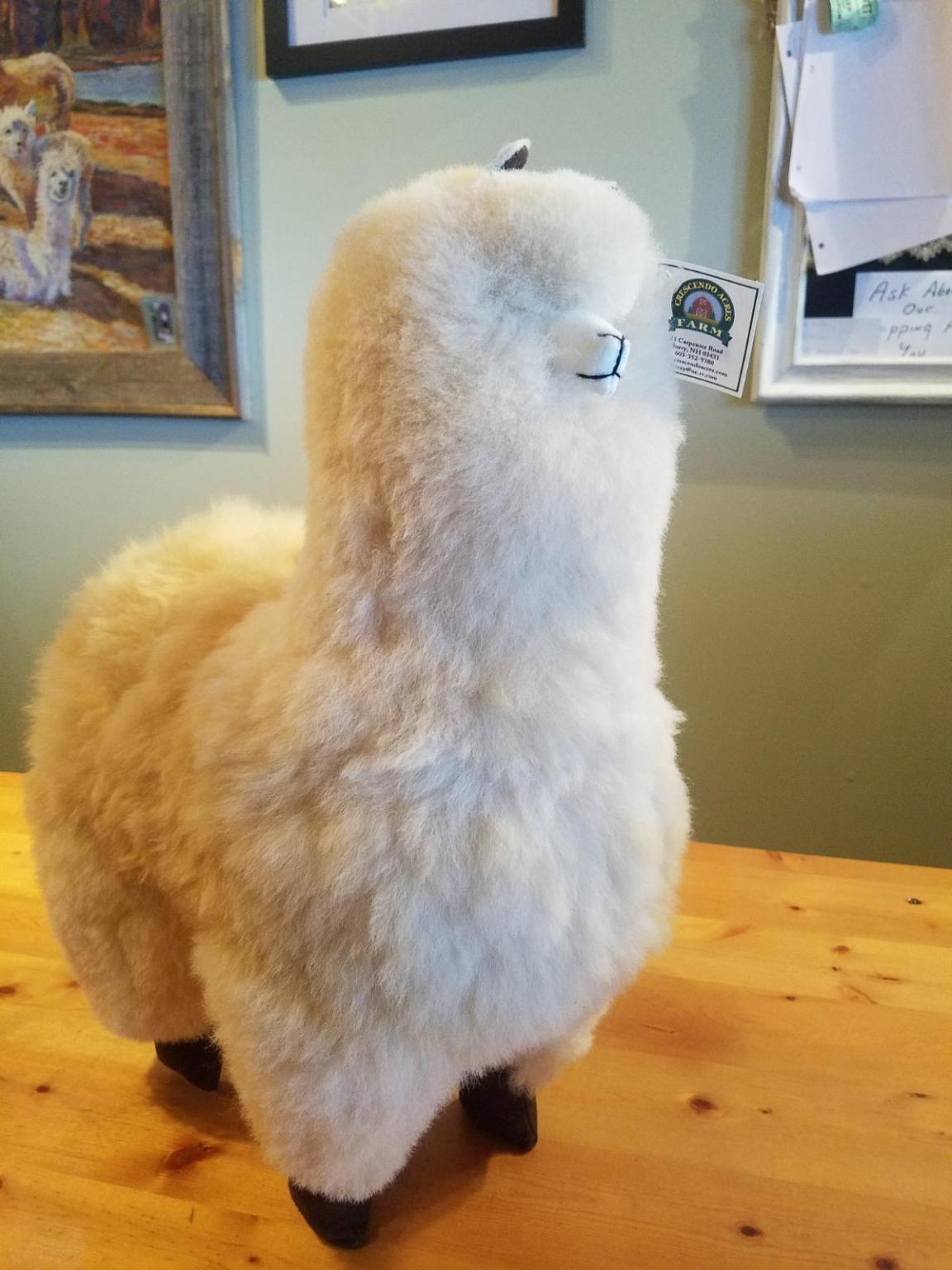 Standing Alpaca Toy Crescendo Acres Farm Surry